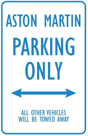 Picture of AM Parking Sign (Blue on Metal)