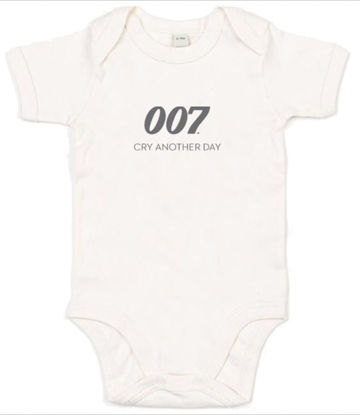 Picture of 007 Baby Grow - Cry Another Day